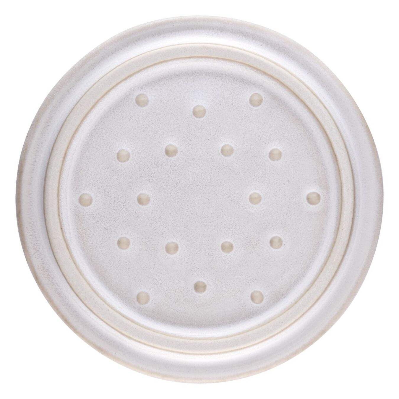 Mini Cocotte 10 cm, rund, Elfenbein-Weiß, Keramik,,large 3
