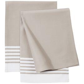 ZWILLING Textiles, Küchenhandtuch Set gestreift, 2-tlg   Taupe