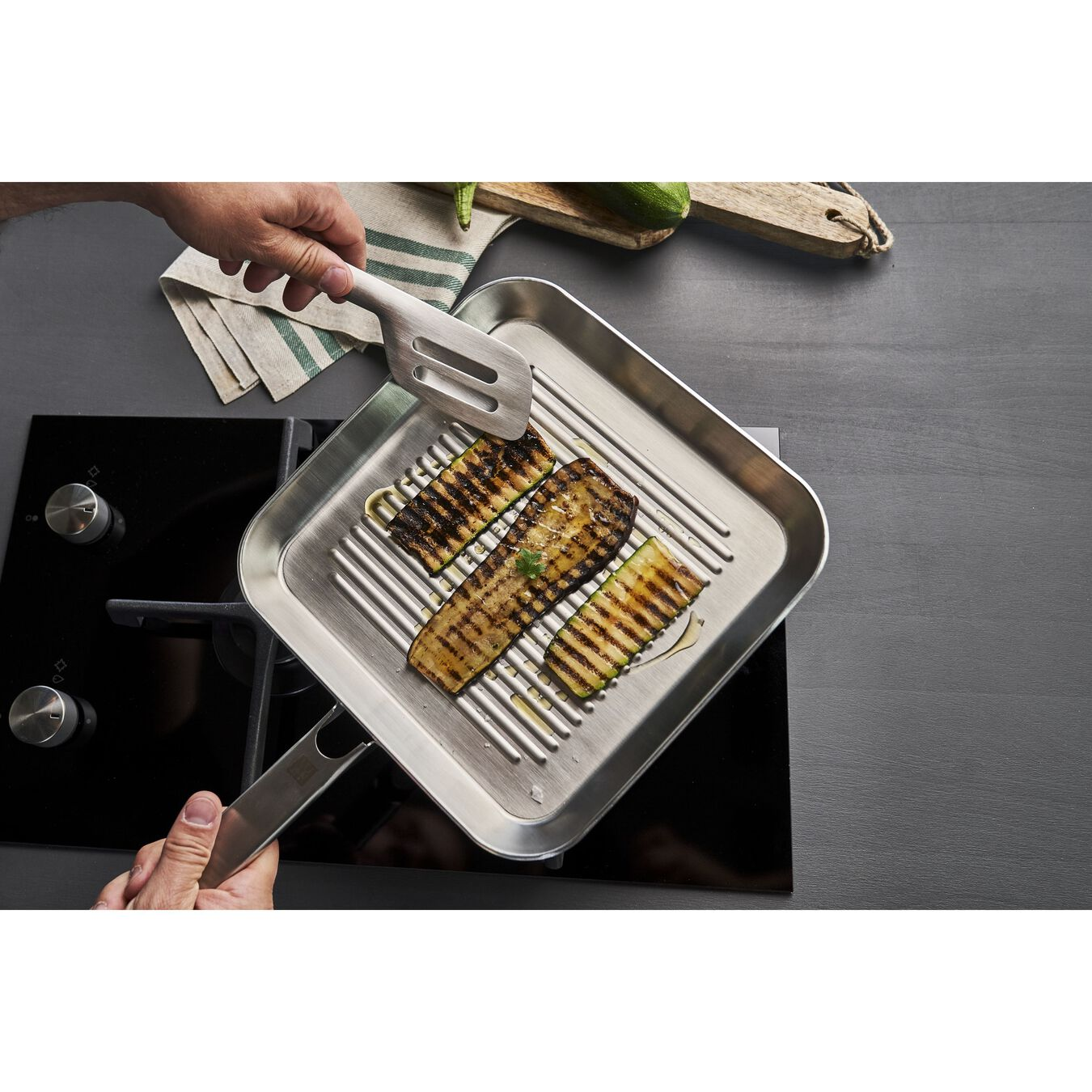 24CM 3-Ply Stainless steel GRILL PAN,,large 2