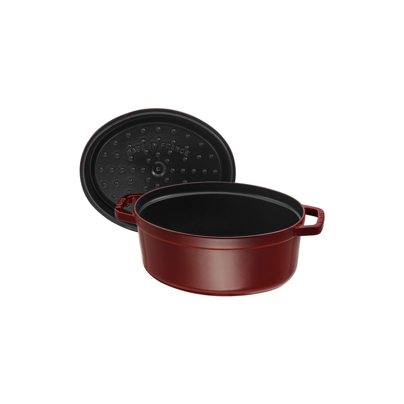 4.25 l Cast iron oval Cocotte, Grenadine-Red,,large 5