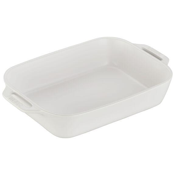 10.5x7.5-inch Rectangular Baking Dish, Matte White, , large