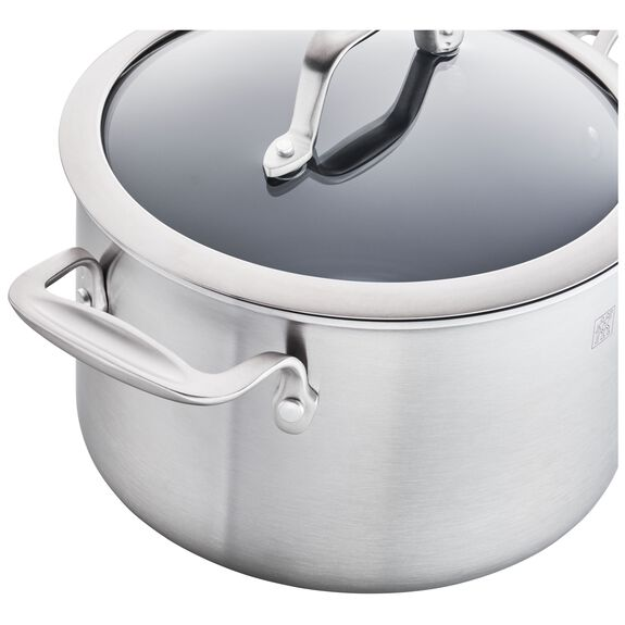 3-ply 4-qt Stainless Steel Ceramic Nonstick Saucepan,,large 3