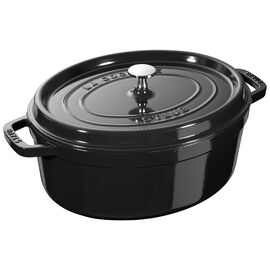 Staub Cast Iron, 5.75-qt Oval Cocotte - Visual Imperfections - Shiny Black