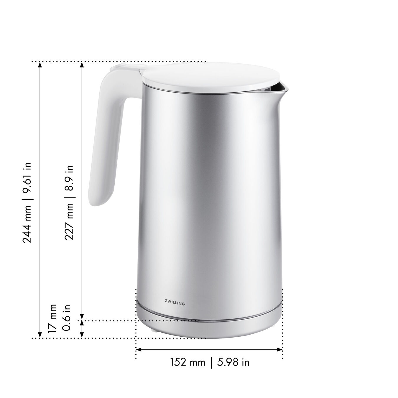Bollitore elettrico - 1,5 l, argento,,large 7
