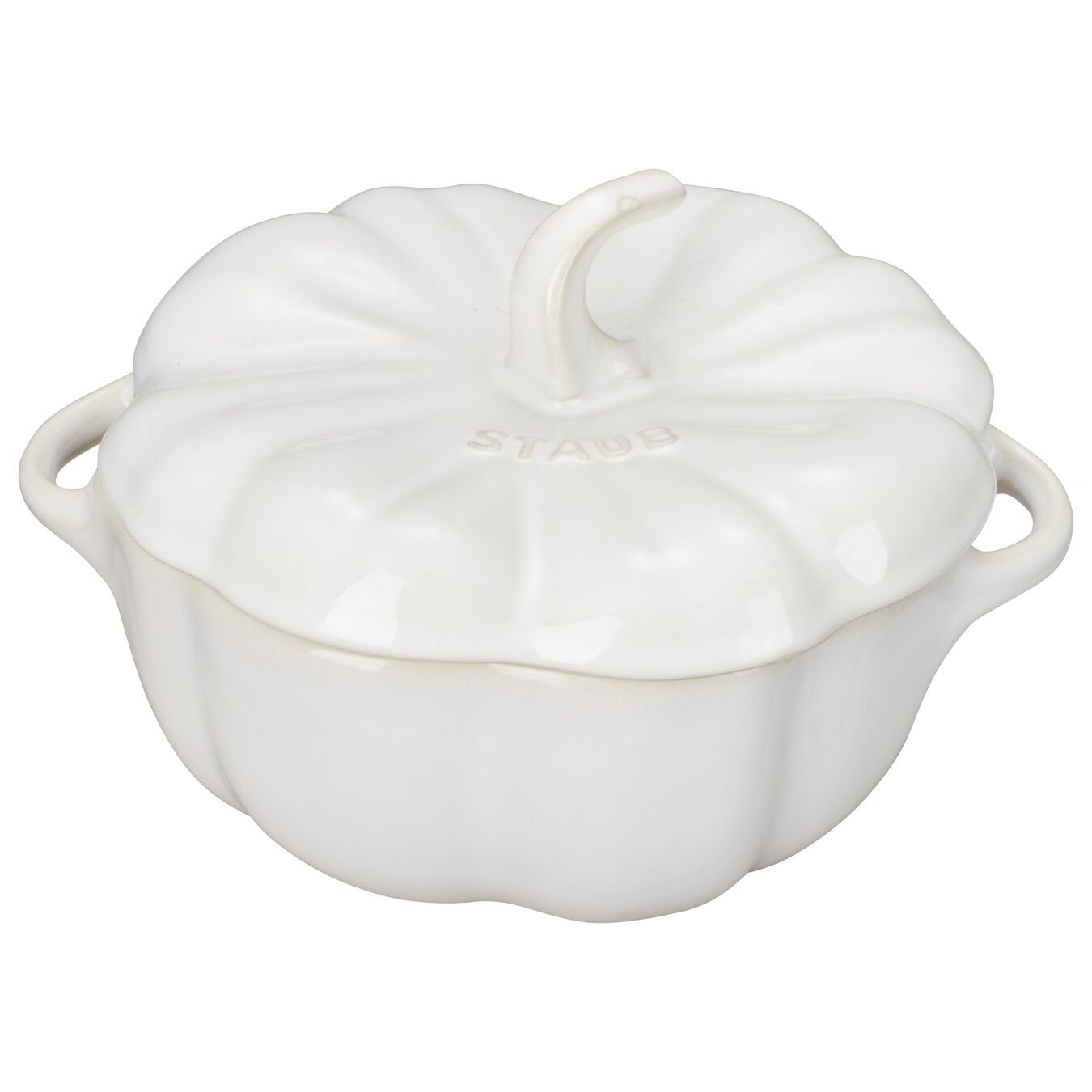 700 ml Ceramic Citrouille Faitout, Ivory-White,,large 1