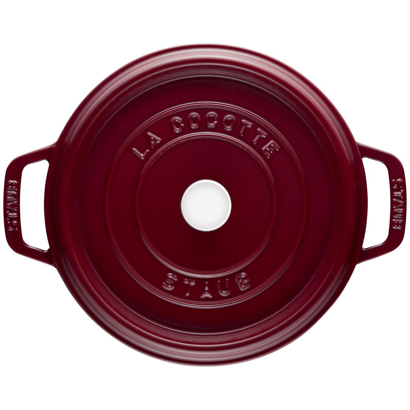 Cocotte 26 cm, rund, Bordeaux, Gusseisen,,large 3