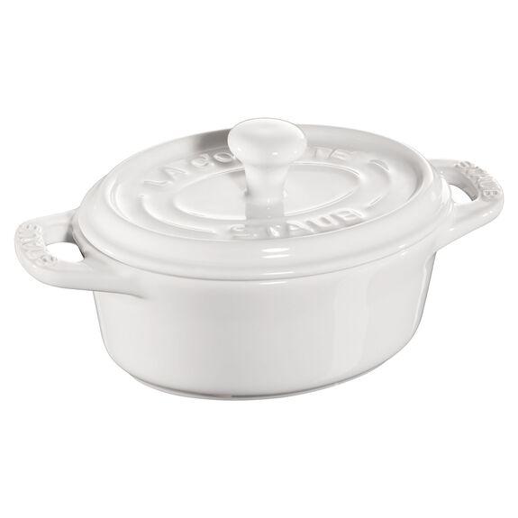 Mini seramik kap, 11 cm | Beyaz | Oval | Seramik,,large