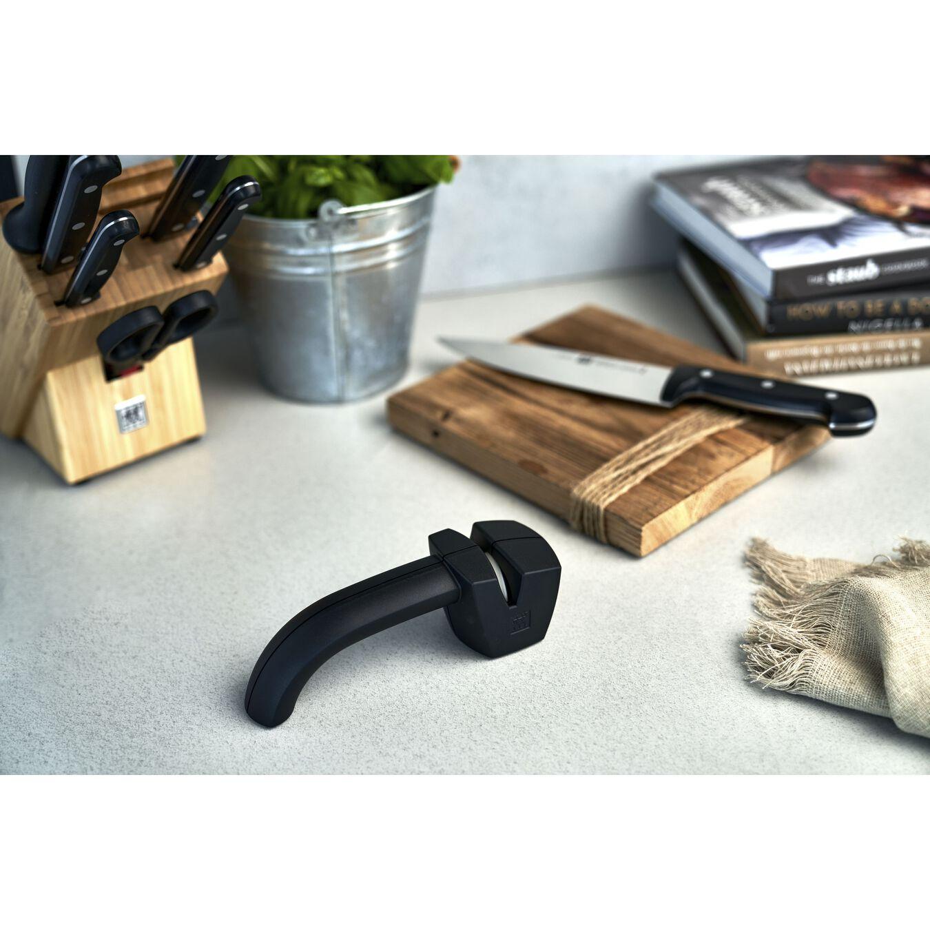 Knife sharpener, 20 cm | black | plastic,,large 2