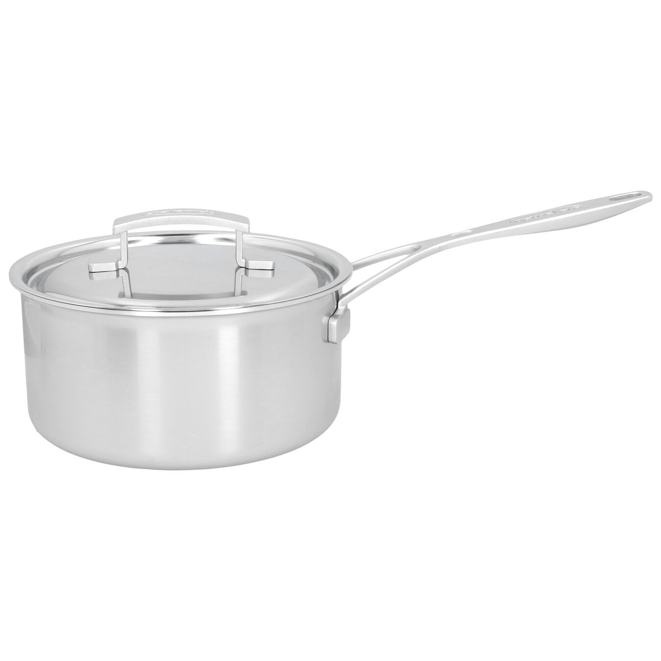 3 l round Sauce pan with lid, silver,,large 1