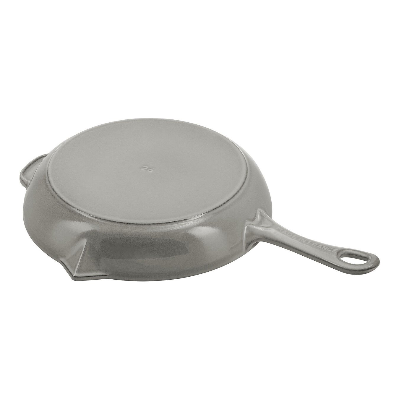 26 cm / 10 inch Cast iron Frying pan with pouring spout, graphite-grey,,large 3