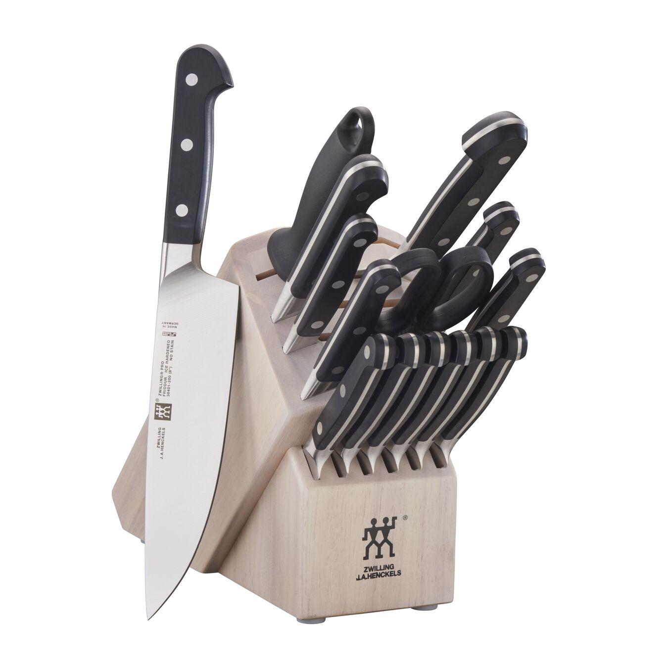 16-pc, Knife block set, white,,large 1