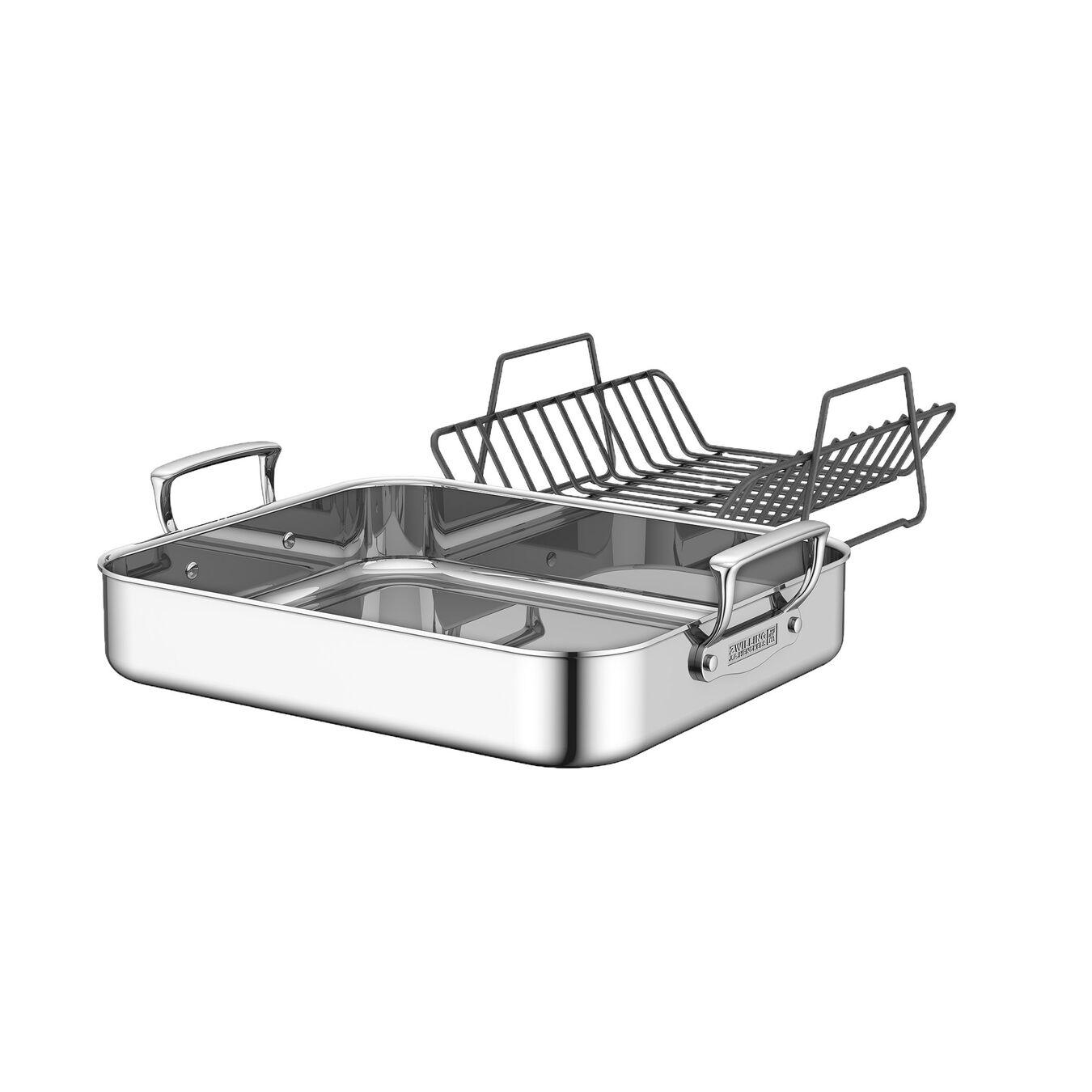 rectangular Roaster, silver,,large 1
