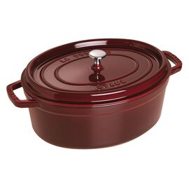 Staub Cast iron, 3.5-qt-/-27-cm oval Cocotte, Grenadine-Red