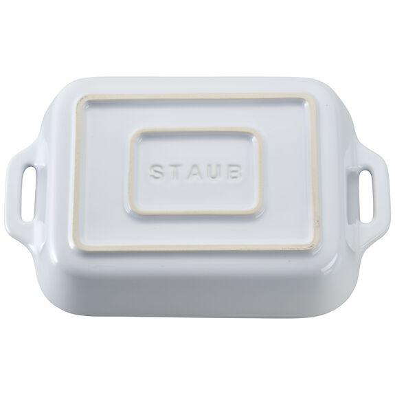 7.5-inch x 6-inch Rectangular Baking Dish - White,,large