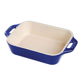 Staub Ceramics, 13-inch x 9-inch Rectangular Baking Dish - Dark Blue