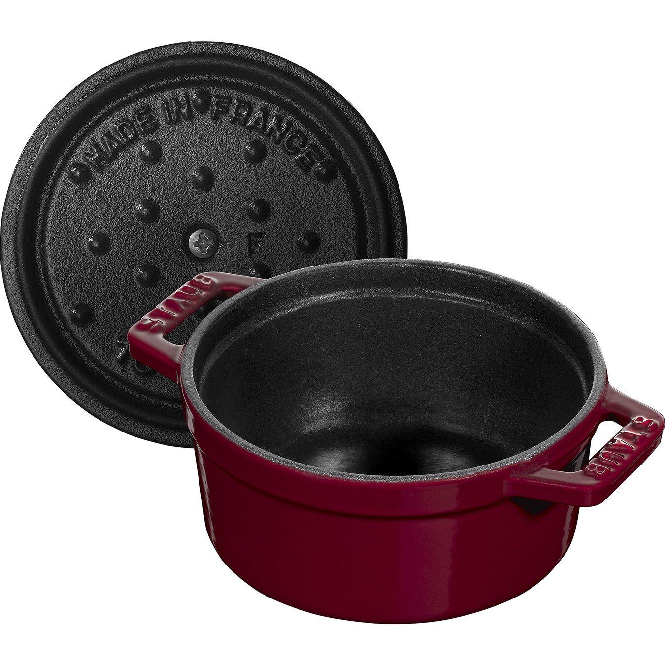 250 ml Cast iron round Mini Cocotte, Bordeaux,,large 5