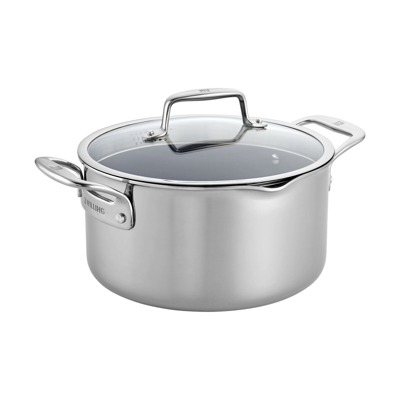 6 qt, Non-stick, Stainless Steel Ceramic Dutch Oven ,,large 1
