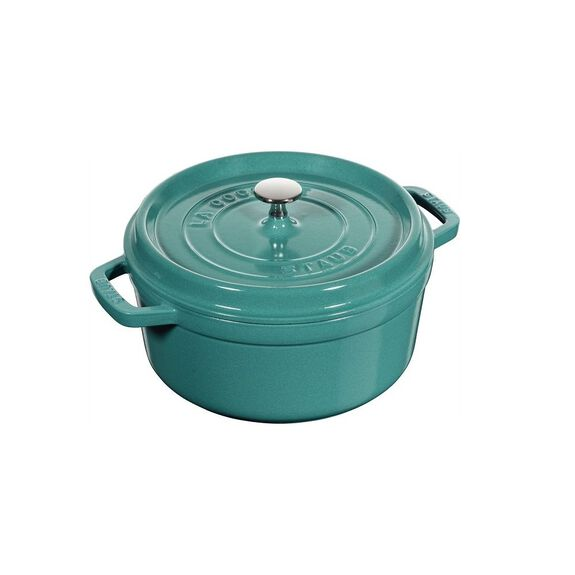 5.5-qt Round Cocotte - Turquoise,,large 6