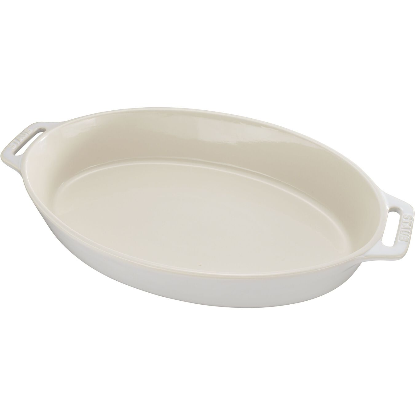 14.5-inch, oval, Oven dish, ivory-white,,large 1