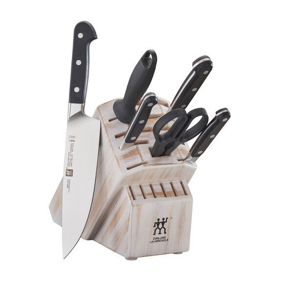 7-pc Knife Block Set - Rustic White,,large