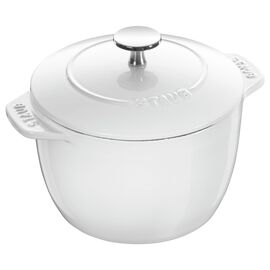 Staub Cast iron, 6.5-inch round Cast iron Rice Cocotte, White