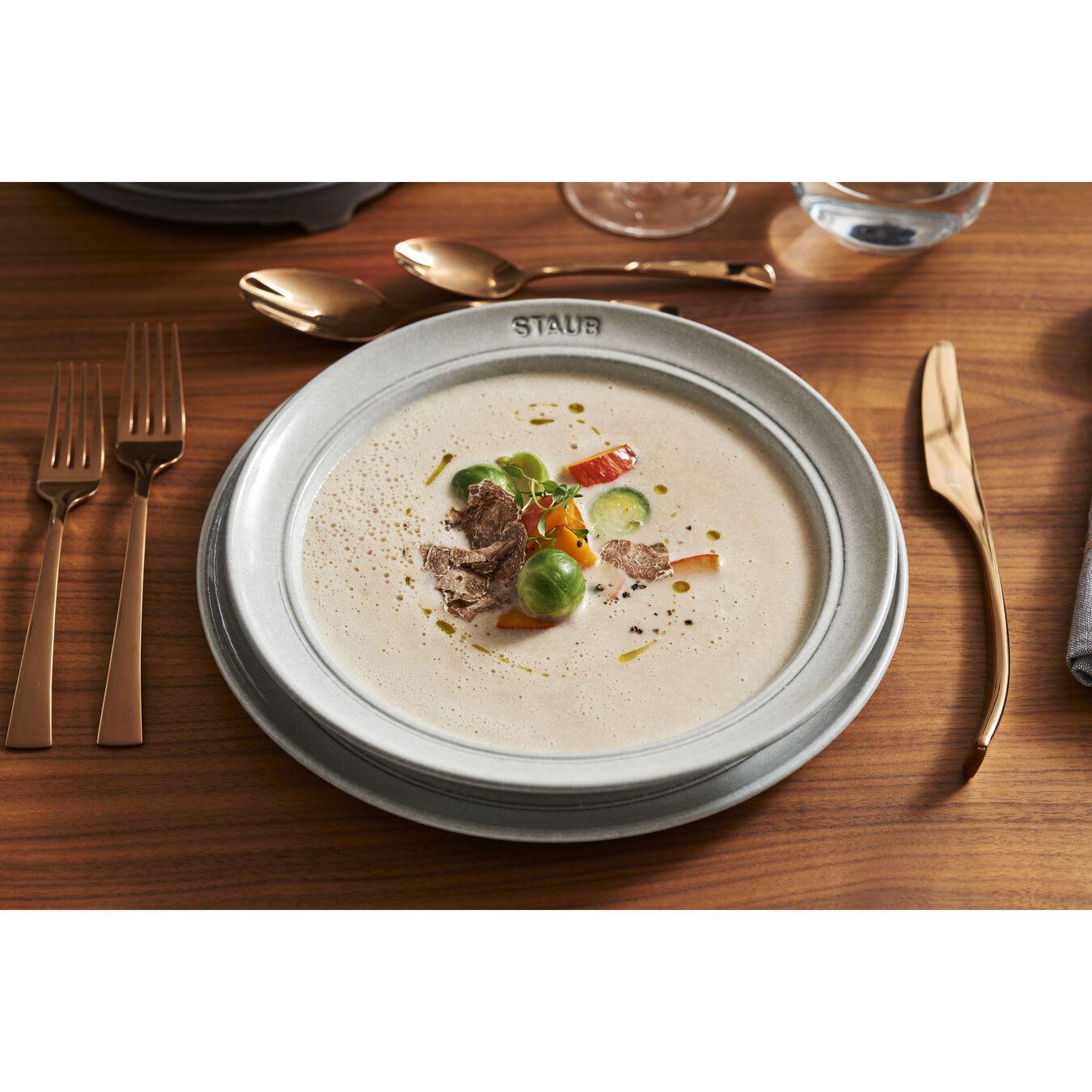 Serving set, 48 Piece | white truffle | ceramic,,large 12