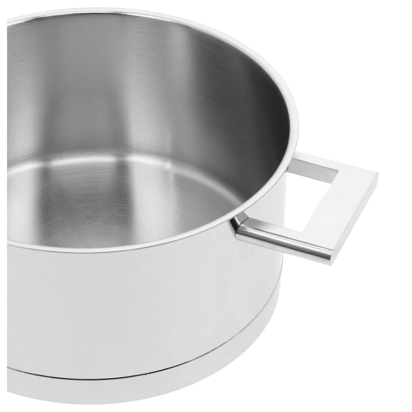 Sığ Tencere çift çıdarlı kapak | 18/10 Paslanmaz Çelik | 24 cm | Metalik Gri,,large 7