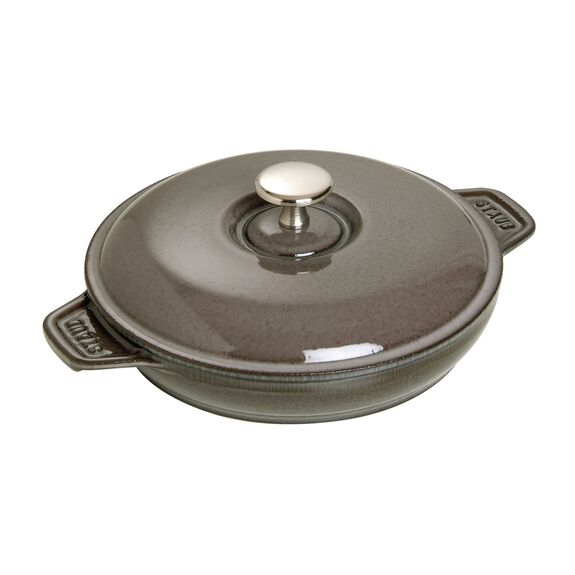 8-inch Cast iron Oven dish with lid,,large 2