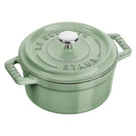 Staub La Cocotte, Mini Cocotte 10 cm, rund, Salbeigrün, Gusseisen