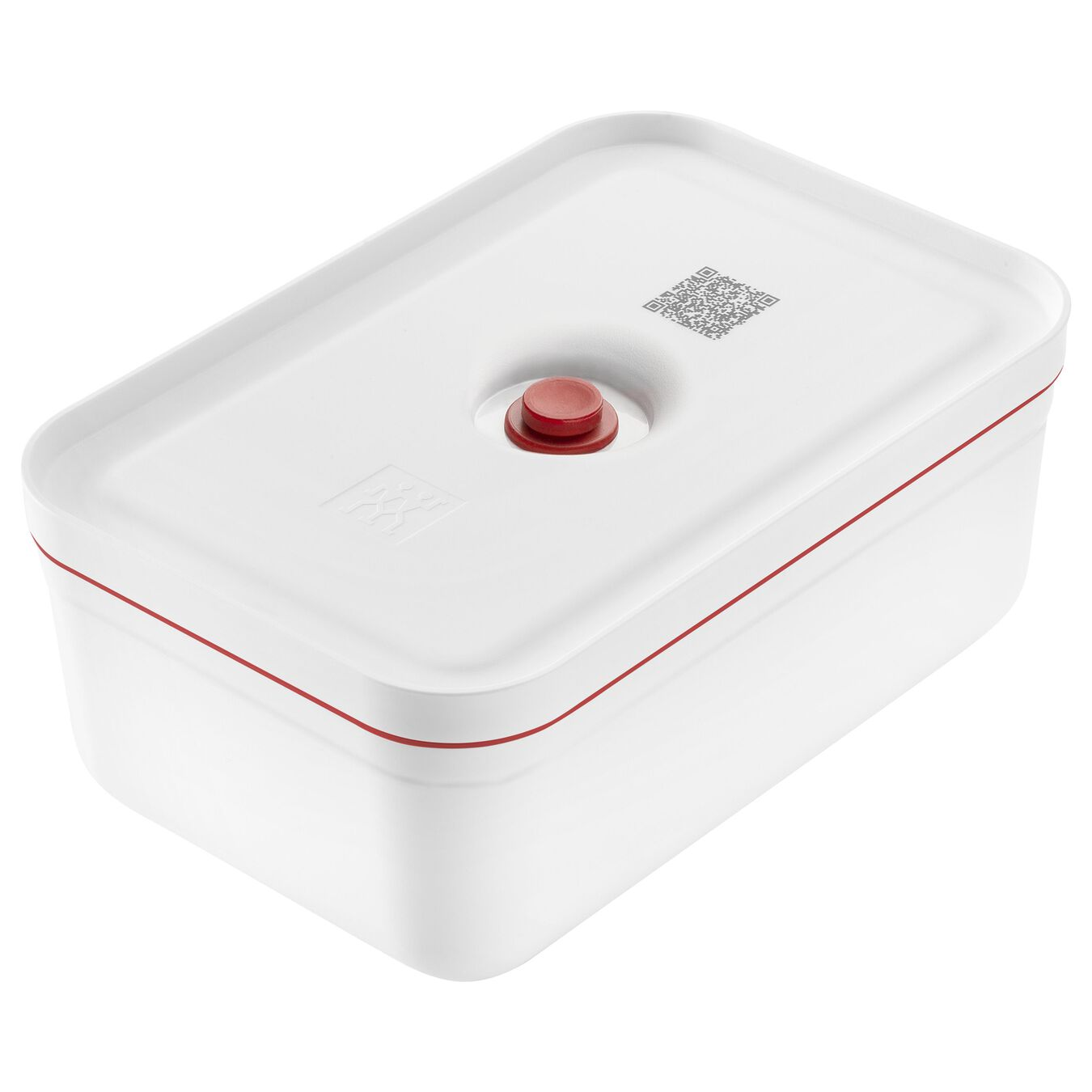 Lunch box sottovuoto, L, plastica, bianco-rosso,,large 1