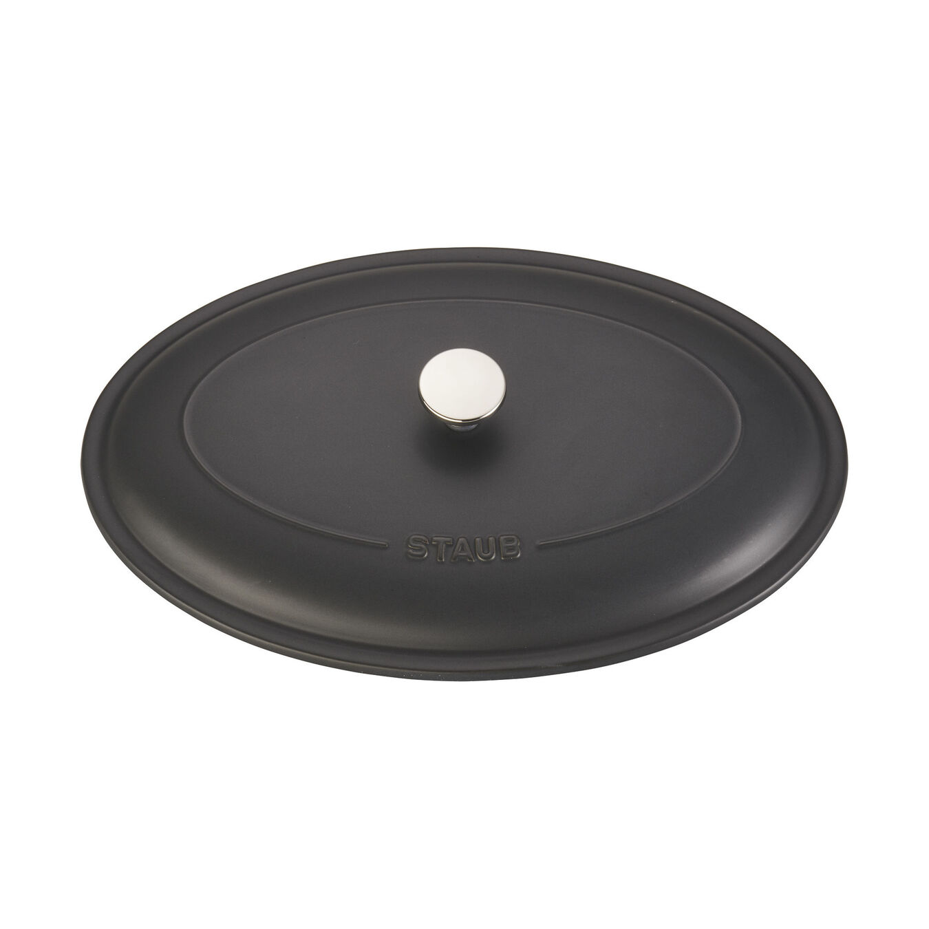 14-inch Oval Covered Baking Dish - Matte Black,,large 4
