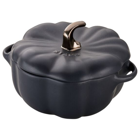 24-oz Pumpkin Cocotte - Matte Black,,large