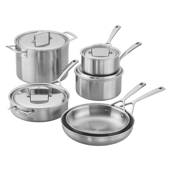 Stainless Steel 10 Piece Cookware Set,,large