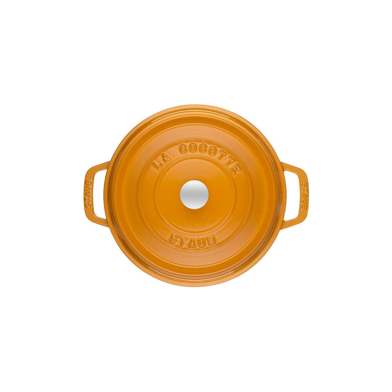 3.75 l Cast iron round Cocotte, Mustard,,large 4