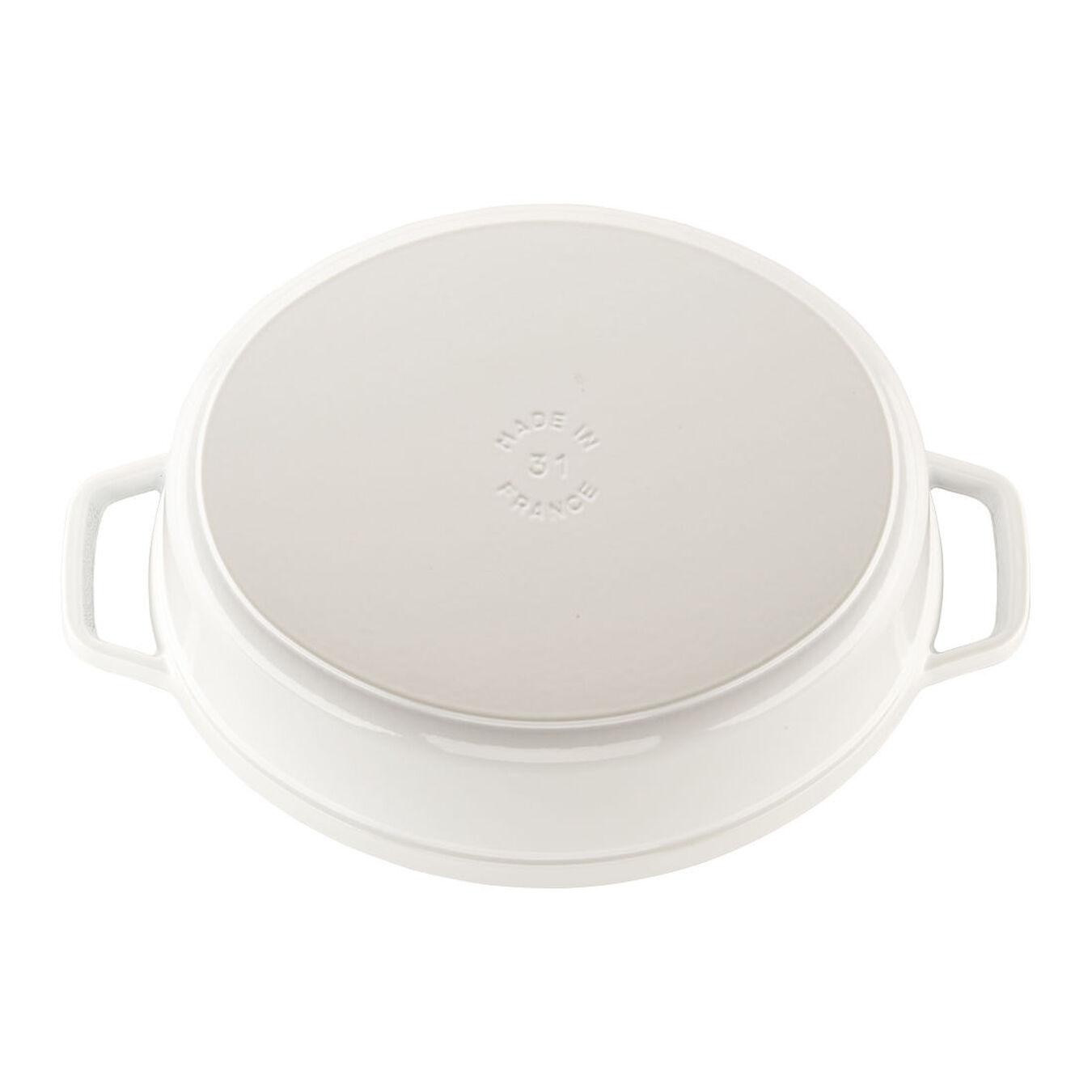 5.5 qt, oval, Coq au Vin Cocotte, white,,large 2