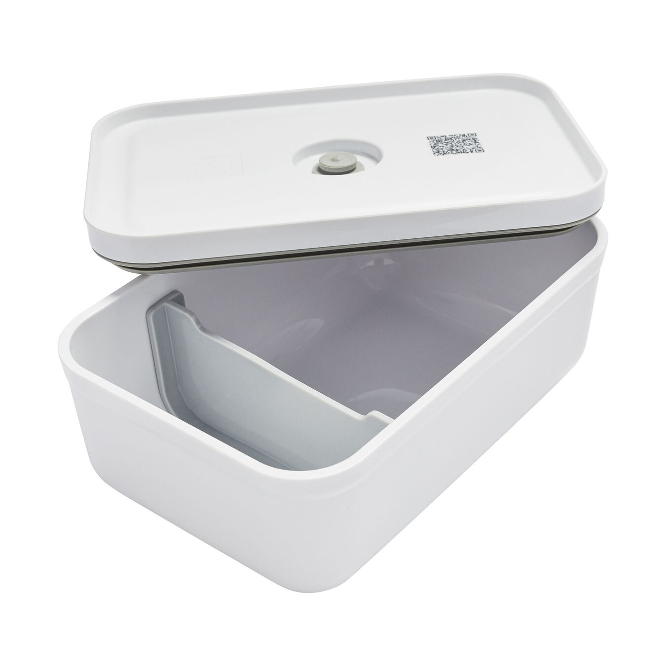 large Vacuum lunch box, plastic, white,,large 4