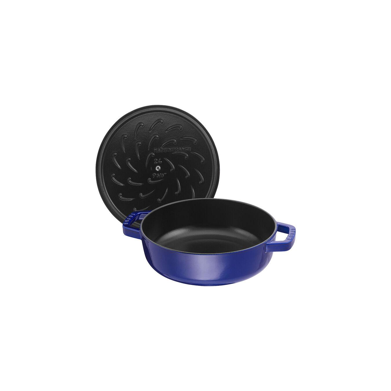 Tegame Chistera rotondo - 28 cm, blu scuro,,large 2