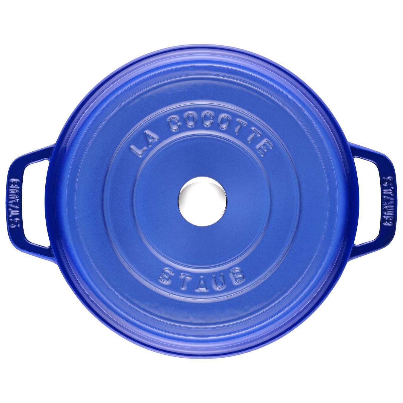 Cocotte 24 cm, Rond(e), Bleu roi, Fonte,,large 1