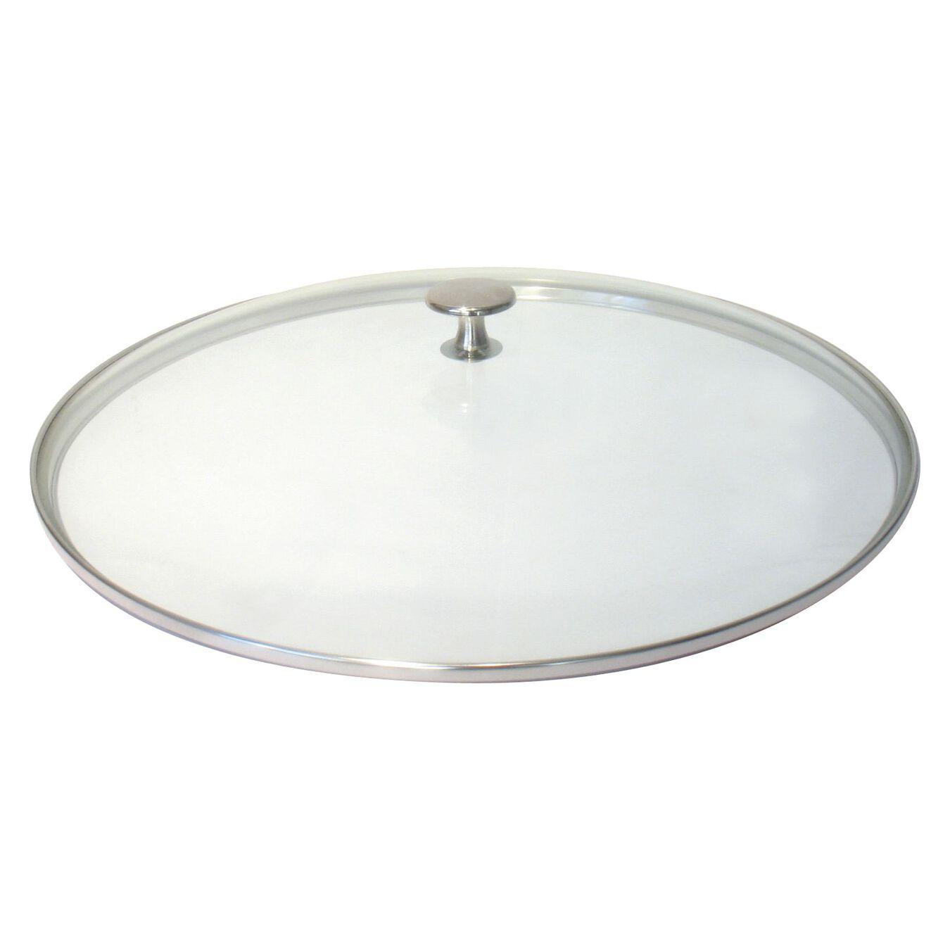 Lid, 37 cm | round | glass | transparent,,large 1