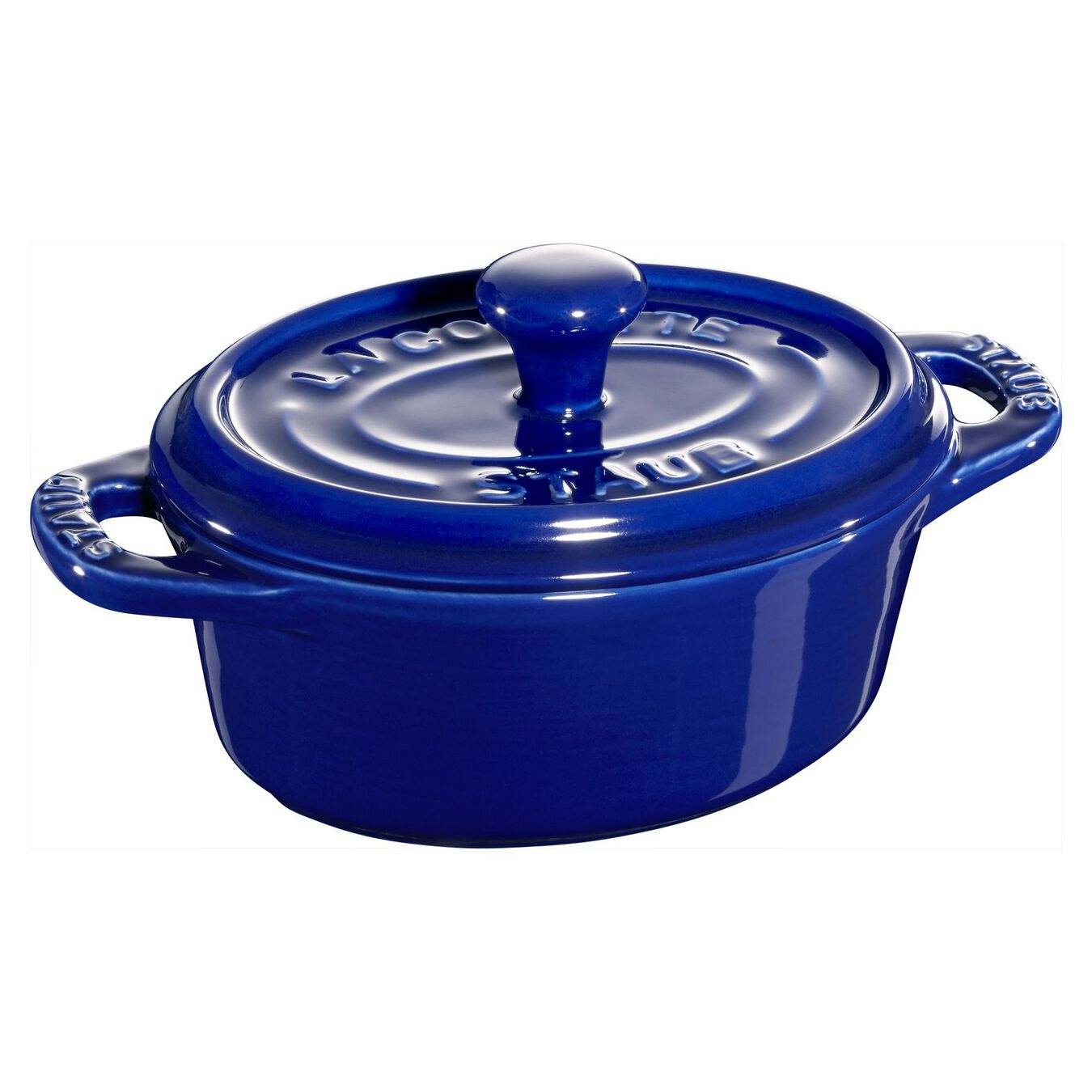 Mini Döküm Tencere | Koyu Mavi | 11 cm | 200 ml | oval,,large 1