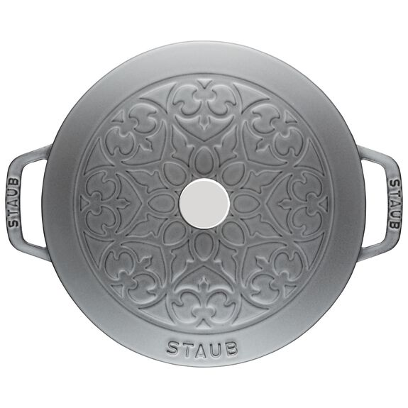 3.75-qt Essential French Oven with Lilly Lid - Graphite Grey,,large 2