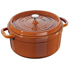 Staub Cast iron, 5.5-qt-/-26-cm round Cocotte, Cinnamon