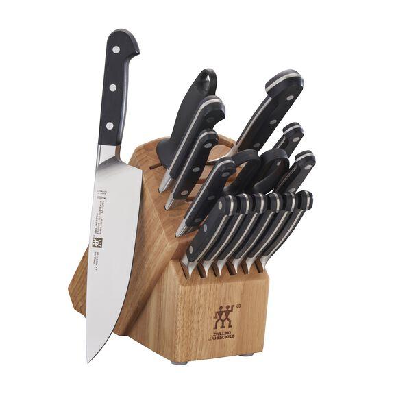 16-pc Knife Block Set, Natural, , large