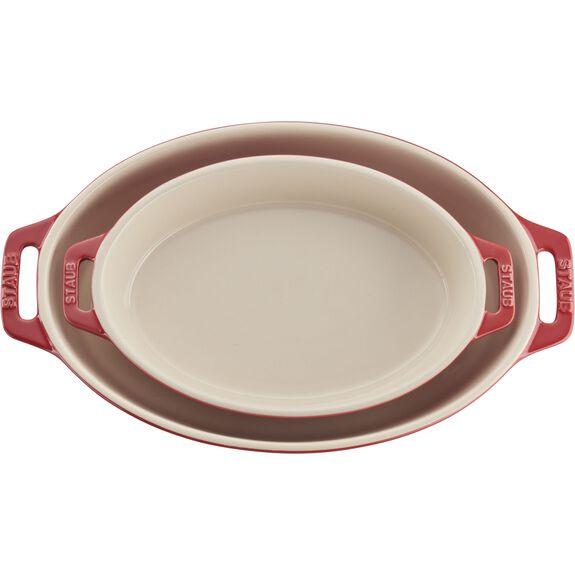 2-pc Oval Baking Dish Set, Cherry, , large 4