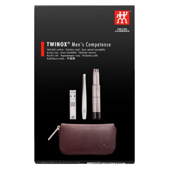 3-pc Leather Zip fastener case,,large 2