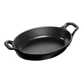 Staub Cast Iron, 8-inch x 5.5-inch Oval Gratin Baking Dish - Matte Black
