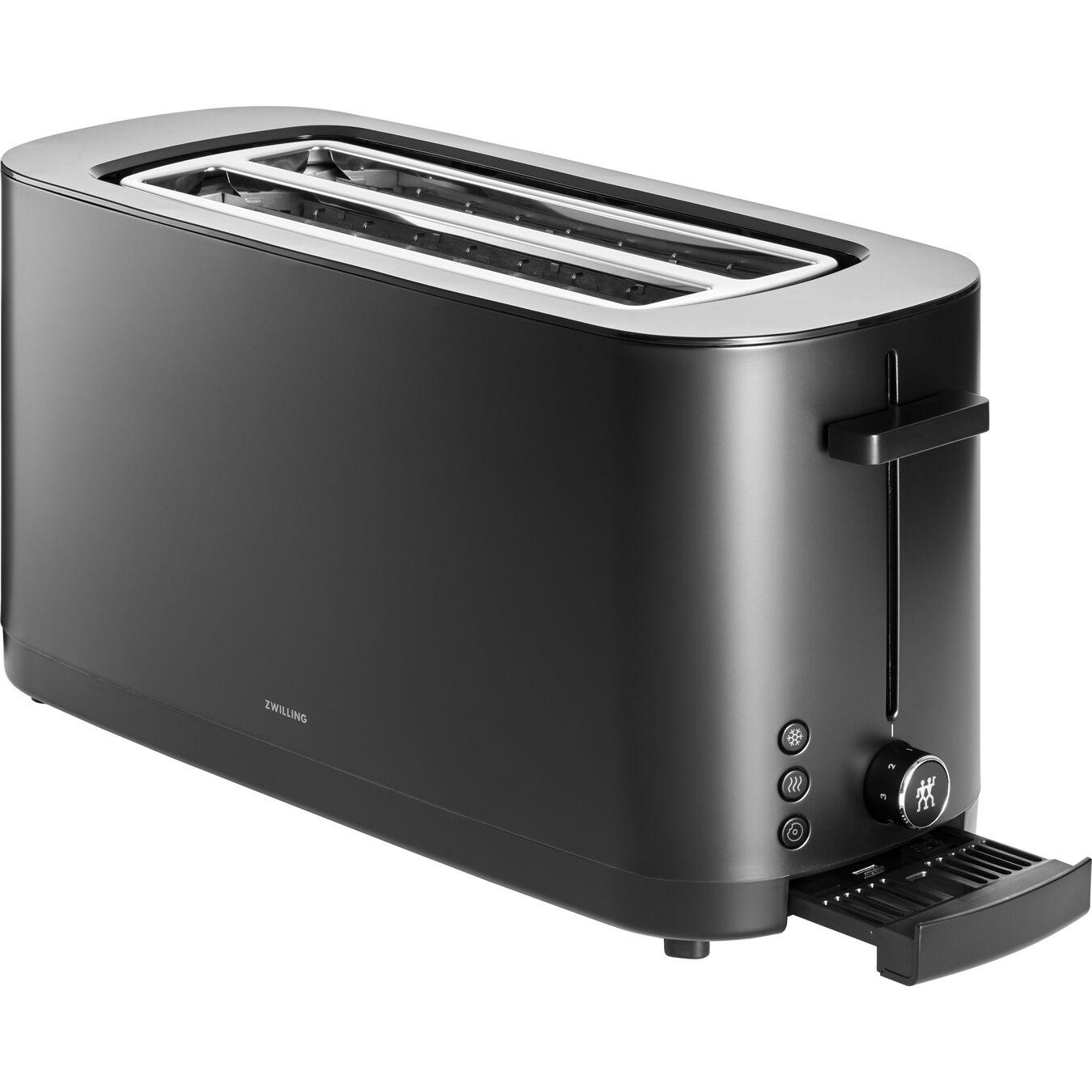 Toaster, 2 Schlitze lang, Schwarz,,large 2