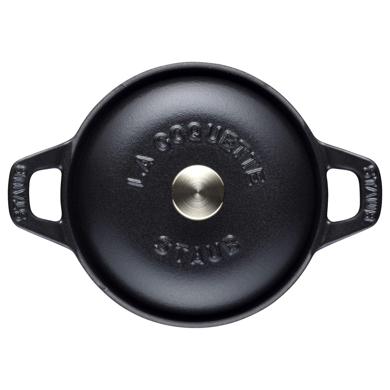 La Coquette rotonda - 12 cm, Nera,,large 2