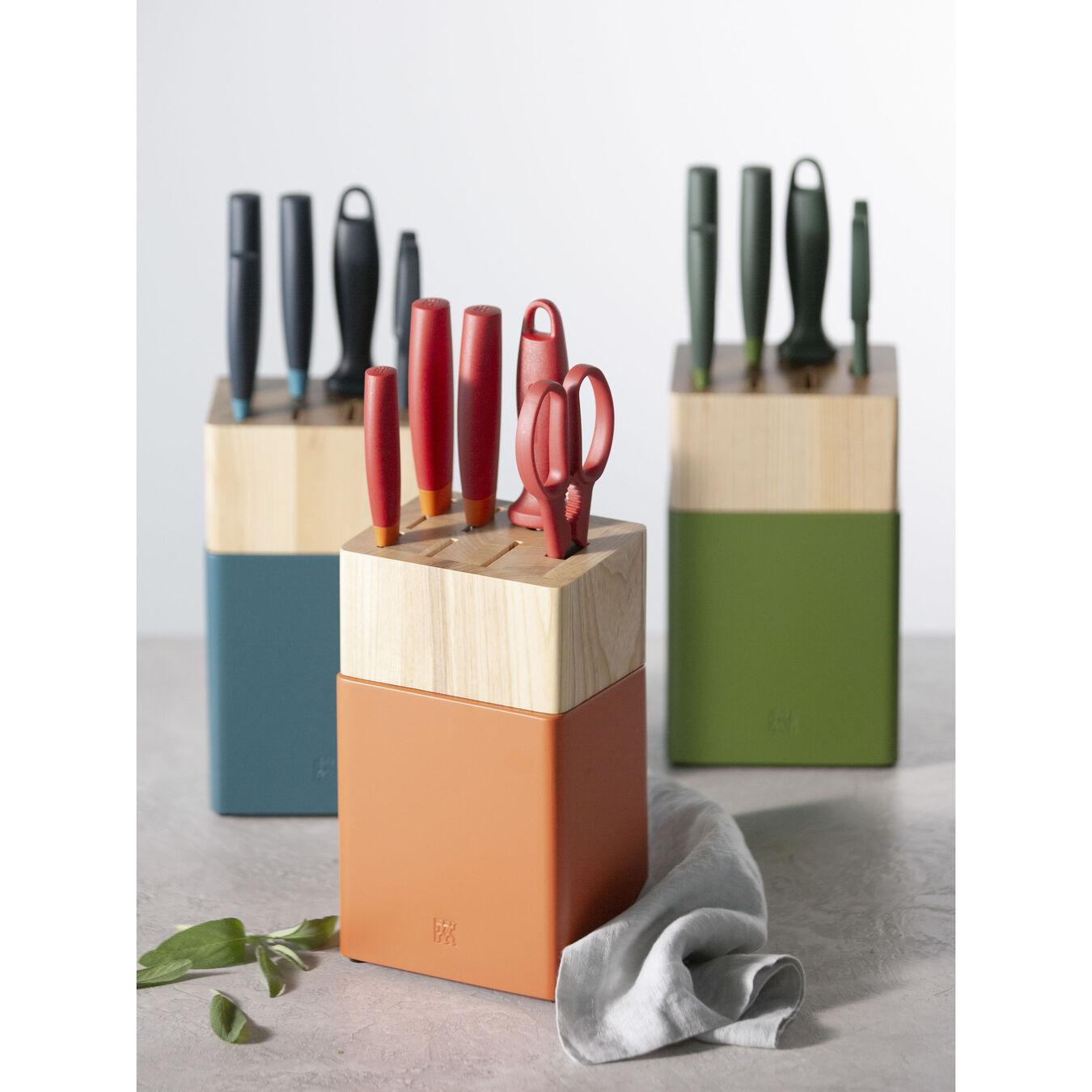 8-pc, Knife block set, orange,,large 5