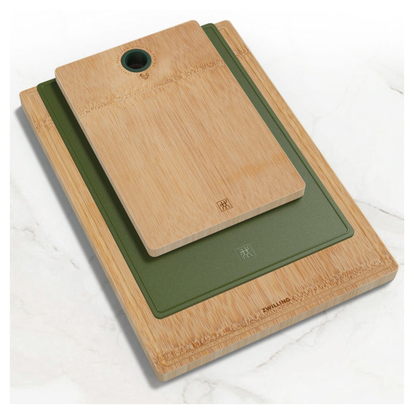 Cutting board set, 3 Piece | bamboo | lime-green,,large 3